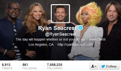 Ryan Seacrest was one of the first to change his Twitter header image.